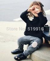 Cartoon bear 100% cotton female child long-sleeve T-shirt children's clothing 14 autumn annika
