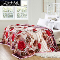 Water double layer thickening flannel blanket winter thermal coral fleece blanket single double blanket