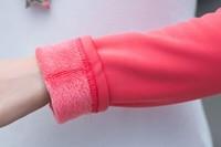 2014 Hitz women's high quality thick long-sleeved round neck T-shirt female shirt women stitching