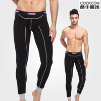 2014 Male  cotton thermal long johns separate thin tight slim pajama pants sleepwear underpants wool pants male