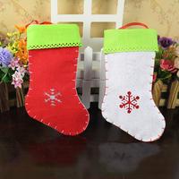 2014 New Fashion Christmas candy socks christmas decoration stereo candy bag hangings christmas props