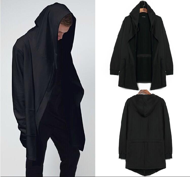 Original design men's clothing sweatshirt spring autumn hoodie men hood cardigan mantissas black cloak outerwear oversize(China (Mainland))