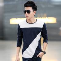 M-3XL 2014 Autumn  New  Men Tee Men's Casual Slim long-sleeved T-shirt men