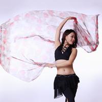 Belly dance scarf faux silk gradient print belly dance yarn scarf large sj006