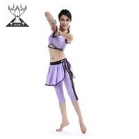 Belly dance set dance leotard milk silk high-elastic lace set qc2222