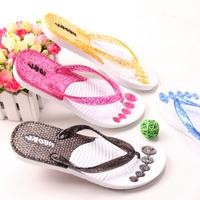 Breathable lovers flip flops beach slip-resistant flat slippers T-005