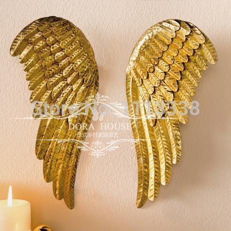 europese woninginrichting decoratie engelenvleugels wandkleden 29*13cm