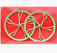 Free shipping MTB bicycle saddle white 4 disc brake wheels road bike bicycle magnesium alloy bicycle wheel