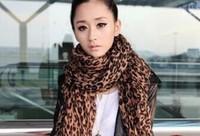 2014 star leopard print cotton oversized scarf women's fashion