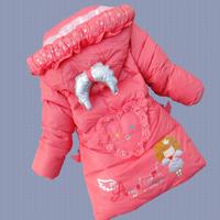 Female winter child clothing 2014 wadded jacket thickening cotton-padded jacket boy child cotton-padded jacket outerwear d81