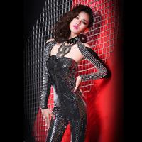 2014 new fashion female Paillette rivet dj Jazz stage costumes bodysuit set nightclub singer ds costume clothing