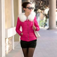 new 2014 fashion parkas winter female down jacket womens winter coat women winter overcoat lady high-grade fur collar jacket