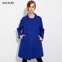 2014 autumn long-sleeve fashion cloak woolen outerwear medium-long autumn and winter female wool overcoat