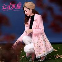 2014 new Korean women wool woolen coat Slim woolen coat female long winter coat  overcoat