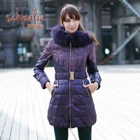 Elsa SCHIAPARELLI fox large fur collar medium-long slim waist down coat Women