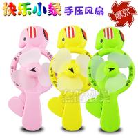 Toy hand fan cartoon animal toy elephant hand fan battery