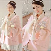Free shipping Jorya 2014 women small popper long-sleeve outerwear coat
