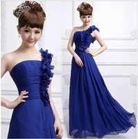 Toast the bride married chiffon formal dress evening dress plus size long design free shipping