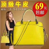 Fashion fashion women's bags 2014 trend women's genuine leather handbag cowhide cross-body handbag one shoulder bag small