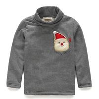 2014 winter boys clothing child plus velvet thickening t-shirt basic shirt tx-4288