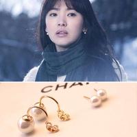 Accessories song star style pearl earrings stud earring earrings