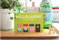 Free shipping 6sets/lot Korean stationery mini cartoon magnetic bookmark 4pcs/set