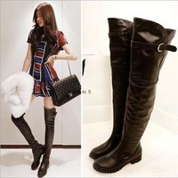 2014 women autumn boots pu leather low-heeled winter boots comfortable flat knee high boots sexy boots shoes women ,HJ8808