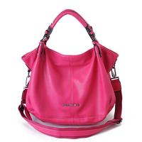 Fashion 2014 Korean women bags Shoulder bag handbags Female Casual bag Rose red  large capacity Free shipping