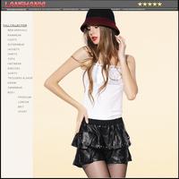 Leather skirt 2014 female genuine leather sheepskin bud pleated skirt