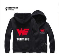 2014 new sweater LOL League Team jersey dress Korean version of the trend WE plus velvet jacket zipper jacket men hoodies Fall
