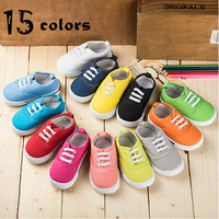 Free Shipping 15 Colors Child Shoes Cute Canvas Baby Shoes Ankle-low Casual Boys Girls Canvas Shoes Kids Sneakers Size 13~17