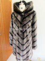Fashion quality fox medium-long women's fur coat