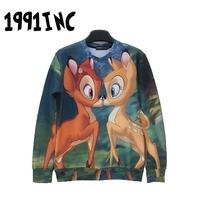 2014 Autumn winter Fashion 1991 inc 3D Hoodies Men Full Sleeve lovers sweatershirts sexy-sweaters batnorton male / female tops