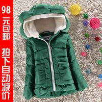 2014 winter thickening child down coat children's clothing female child down coat winter down outerwear