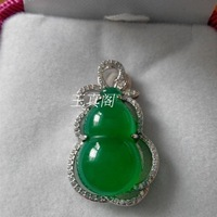 Natural s925 pure silver inlaying gem agate chalcedony crystal pendant fashion 2014