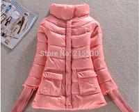 2014 new fashion winter women's slim medium-long cotton down coat a cloak female down coat outerwear women padded jackets