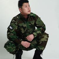 Camouflage suits military suit set (tactical jacket+tactical pants) camo training combat suits woodland