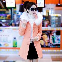 Women Woolen outerwear female medium-long 2014 woolen outerwear female wool coat female overcoat