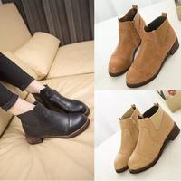 2014 autumn boots HARAJUKU thick heel fashion vintage elastic boots boots