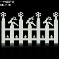 Christmas foam elizabethans fence window glass decoration supplies Christmas decoration
