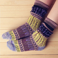 Women's street vintage personality piles of socks autumn HARAJUKU socks 100% cotton socks