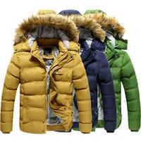 New arrival hot thick warm men's winter jacket coat casual slim winter men jacket parka (-30C)