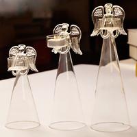Fashion transparent glass mxmade mousse set romantic wedding candle holder
