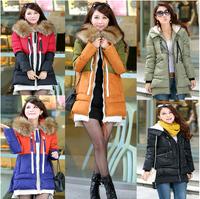 Fashion 2014 women winter cotton-padded jacket new large size women's military loaded down Padded cotton jacket