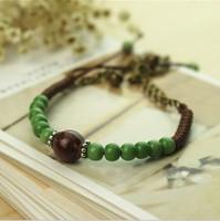 Ceramic bracelet handmade beaded bracelet bell honey bracelet accessories vintage bracelet female national trend jewelry gift