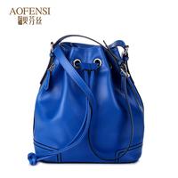 2014 women's handbag women's shoulder bag cowhide female bag bucket female vintage cross-body bags