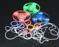 Hand luminous flash flywheel pull toy gyroscope toy luminous gyro 10pcs