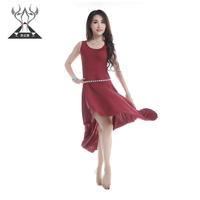 Belly dance set leotard clothes set modal cotton one-piece dress 2218
