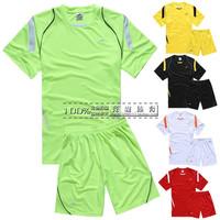 Moisture wicking soccer jersey football training suit paintless football jersey short-sleeve set football clothing male