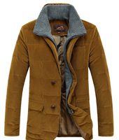 2014 winter men's clothing outerwear male down coat stand collar thick